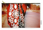 Indian Woman In Red- Vignette Carry-all Pouch