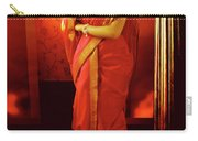 Indian Woman In Traditional 9 Yard Saree Carry-all Pouch