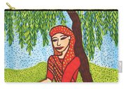 Indian Woman With Weeping Willow Carry-all Pouch