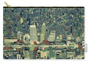 Indianapolis Skyline Abstract 3 Carry-all Pouch