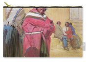 Indians Outside Taos Pueble Carry-all Pouch