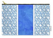 Indigo Amoeba Abstract Tribal Watercolor Carry-all Pouch