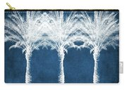 Indigo And White Palm Trees- Art By Linda Woods Carry-all Pouch