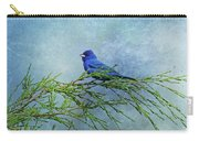 Indigo Bunting On Pine Carry-all Pouch