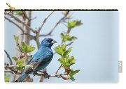 Indigo Bunting - Songbird  3 Carry-all Pouch