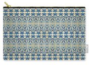 Indigo Ocean - Caribbean Tile Inspired Watercolor Swirl Pattern Carry-all Pouch