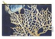 Indigo Ocean - Tan Fan Coral N Angelfish Carry-all Pouch