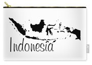 Indonesia In Black Carry-all Pouch