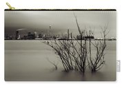 Industry On The Mississippi River, In Monochrome Carry-all Pouch