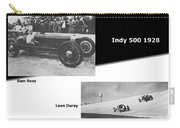 Indy 500 1928 Sam Ross And Leon Duray Carry-all Pouch