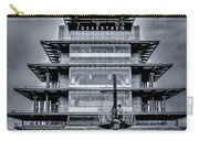 Indy 500 Pagoda - Black And White Carry-all Pouch