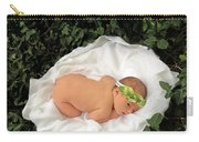 Newborn Infant Lying In Ivy Carry-all Pouch