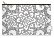 Infinite Lily In Black And White Carry-all Pouch