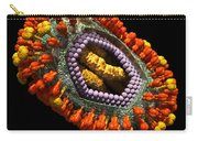 Influenza Virus Cutaway 5 Carry-all Pouch by Russell Kightley