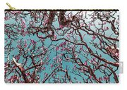Infrared Frangipani Tree Carry-all Pouch