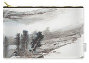 Ink And Wash Pine Carry-all Pouch