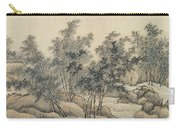 Ink Painting Landscape Bamboo Forest Rivers Carry-all Pouch
