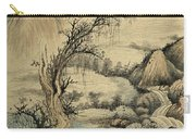 Ink Painting Landscape River Carry-all Pouch