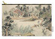 Ink Painting Mountain Wooden Bridge Carry-all Pouch