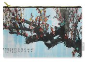 Ink Painting Plum Blossom Blue Carry-all Pouch