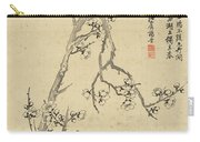 Ink Painting Plum Blossom Carry-all Pouch