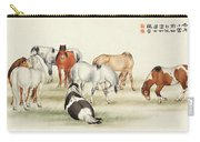 Ink Painting Stud Of Horses Carry-all Pouch