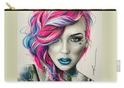 Inked Neon Carry-all Pouch