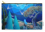 Inner Space-art On A Wall.  Carry-all Pouch