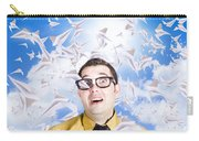 Insane Business Man With Busy Travel Schedule Carry-all Pouch