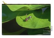 Insect On Lotus Leaf Carry-all Pouch
