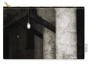 Inside Empty Dark Building With Light Bulbs Lit Carry-all Pouch