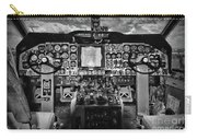 Inside The Cockpit Black And White Carry-all Pouch