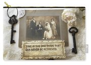 Inspirational Art - Vintage Wedding Photo With Antique Keys - Inspirational Vintage Black Keys Art  Carry-all Pouch