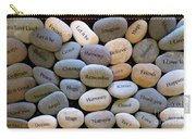 Inspirational Message Stones Carry-all Pouch