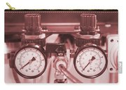 Instruments For Measuring Pressure In Red Hue Carry-all Pouch