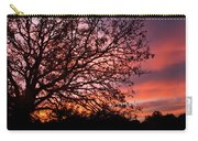 Intense Sunset Tree Silhouette Carry-all Pouch