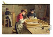 Interior Of A Frame Gilding Workshop Carry-all Pouch by Louis Emile Adan