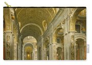 Interior Of St. Peter's - Rome Carry-all Pouch by Giovanni Paolo Panini