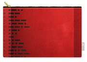 International Morse Code - Black On Red Carry-all Pouch