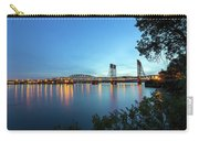 Interstate Bridge Over Columbia River At Dusk Carry-all Pouch