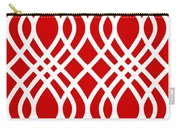 Intertwine Latticework With Border In Red Carry-all Pouch