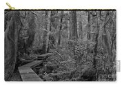 Into A Magical World Black And White Carry-all Pouch