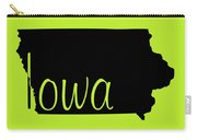 Iowa In Black Carry-all Pouch