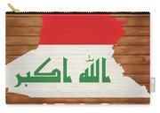 Iraq Rustic Map On Wood Carry-all Pouch