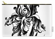 Iris Flower And Butterfly Carry-all Pouch