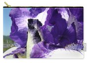 Iris Flower Art Print Purple Irises Botanical Floral Artwork Carry-all Pouch
