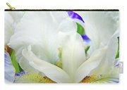 Iris Flower Art Print White Blue Purple Irises Baslee Troutman Carry-all Pouch