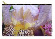 Iris Flower Art Purple Lavender Irises Giclee Prints Baslee Troutman  Carry-all Pouch