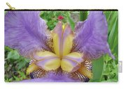 Iris Flower Lavender Purple Yellow Irises Garden 19 Art Prints Baslee Troutman Carry-all Pouch
