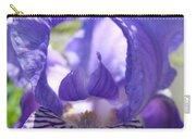 Iris Flower Purple Irises Floral Botanical Art Prints Macro Close Up Carry-all Pouch